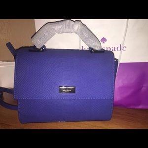 kate spade ♠️ Leather Blue Snake Brynlee Handbag